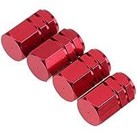 GOOTRADES 12Pcs Tapas para Válvulas de Aire Guardapolvo Tapones de Llantas Neumáticos para Coche Bici Moto (Rojo)