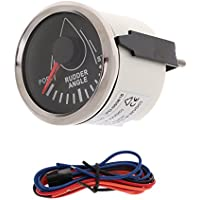 Sharplace Medidor ángulo de Timón con Sensor Montaje para Barco Marino - Chrome Negro
