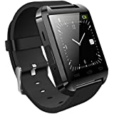 Jiyanshi Smart Android U8 Bracelet Watch and Activity Wristband / Wireless Bluetooth Connectivity / Pedometer / Stop Watch / Barometer Android / IOS Mobile Phone Wrist Watch With Activity Trackers and Fitness Band Features Compatible With Panasonic Eluga L 4G