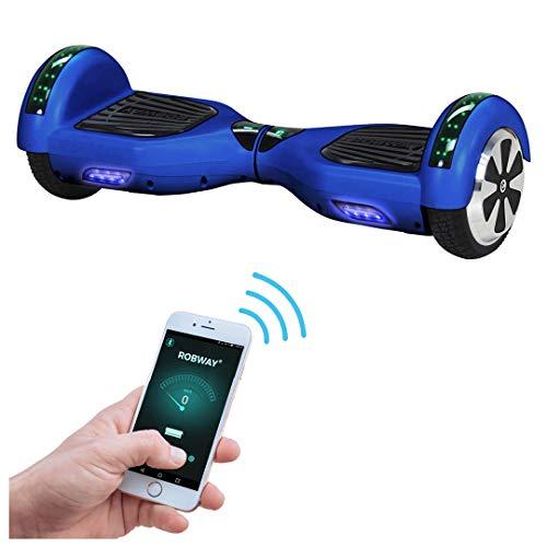 Robway W1 Hoverboard - Das Original - Samsung Marken Akku - Self Balance - 22 Farben - Bluetooth - 2 x 350 Watt Motoren - App - Led (Blau Matt)