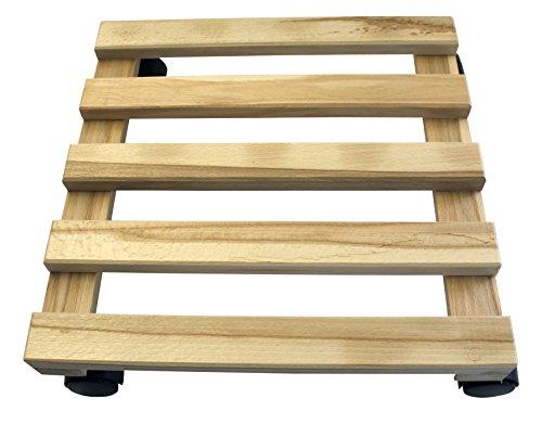 Siena Garden 945900 Holz-Rolluntersetzer, eckig Buche, 5 und 2 Latten