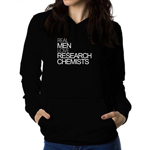 Felpe con cappuccio da donna Real men love Research Chemist