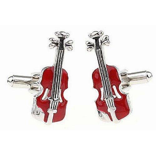 Manschettenknöpfe Violine/Geige, Rot