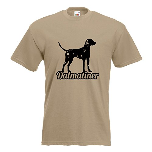 KIWISTAR - Dalmatiner mit Name Hunderasse T-Shirt in 15 verschiedenen Farben  - Herren Funshirt