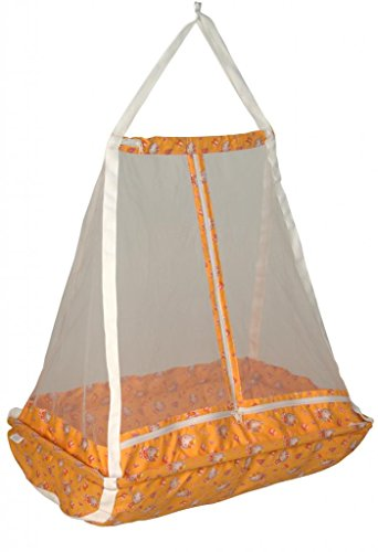 Jack & Jill Baby Happy Cradle Swing Jhula With Top (Mosquito Net)