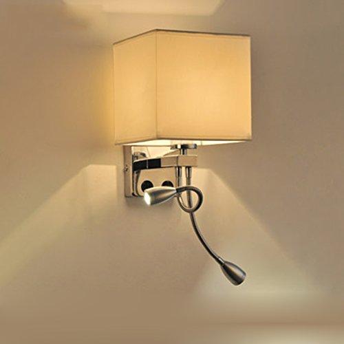 William 337 lampada da comodino a led, soggiorno moderno semplice in camera da letto corridoio scale hotel balcone lampada da parete con interruttore ( colore : b-double head )