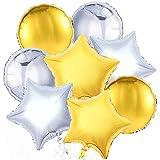 PuTwo Luftballons mit Helium Dekoration von festen Geburtstag Hochzeit 18 Zoll 32-teilig/Set - Etoiles und Punkte