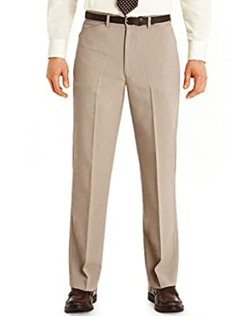 Mens Farah Frogmouth Pocket Formal Smart Trouser Biscuit 3227
