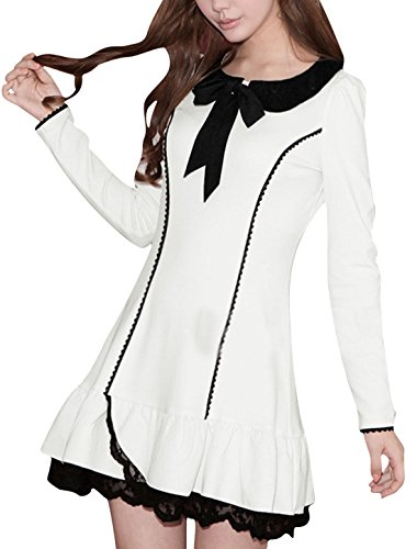 allegra-k-women-doll-collar-lace-trim-flouncing-hem-mini-dress-m-white