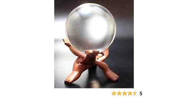 Glaskugel Kristallkugel Wahrsager Zauberei 80 mm Edel Holzständer