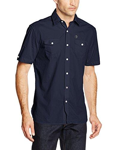 ARQUEONAUTAS Herren Freizeithemd Kurzarmhemd aus Reiner Baumwolle Blau (Navy Blazer 4495)