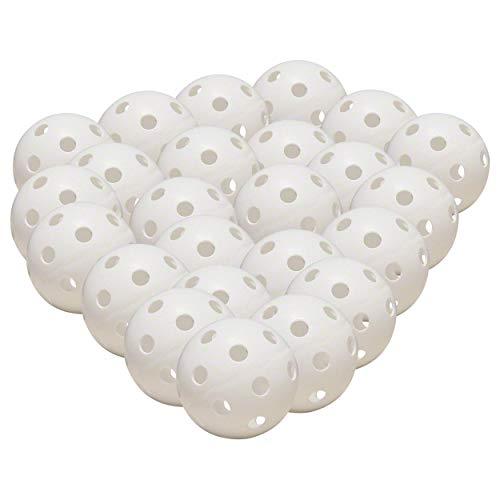Pickleball, Wiffle Ball Kunststoff Baseball Übungsball, Scoopball Fangspiel, Fangballspiel, Lochball für Floorball und Unihockey, Durchmesser 9 cm
