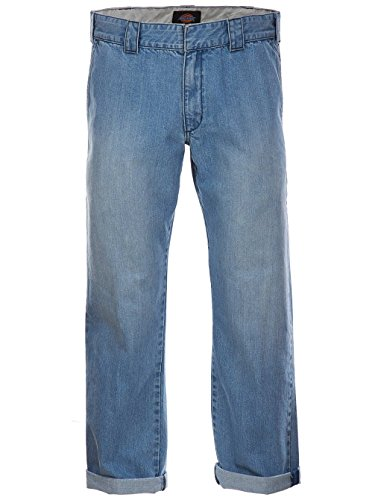 Dickies Herren Jeans, Gerade Denim Work Pant Bleach Wash