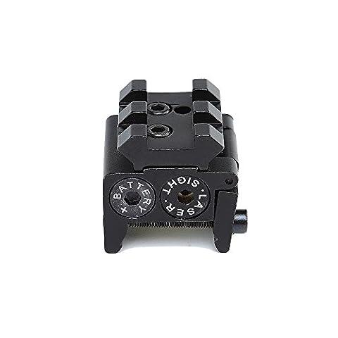 Spike tactique Mini pistolet laser réglable Red Dot Sight Compact Fit Rail Mount 20mm Chasse Scopes AirSoft Lunettes de