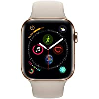 Apple Watch Series 4-40mm Gold Stainless Steel Case with Stone Sport Band, GPS + Cellular, watchOS 5 - MTVN2AE/A