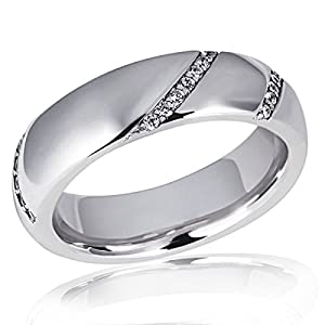 Goldmaid Damen-Ring 925 Sterlingsilber 34 weiße Zirkonia