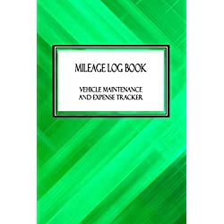 "Mileage Log Book Vehicle Maintenance and Expense Tracker: Zig Zag Green Pattern Cover Design with 6"" X 9"" Custom Interior Pages"