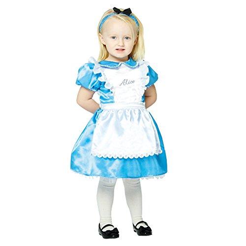 amscan x-DCAL06 Wunderland Kinderkostüm Alice Premium, 68-80 cm