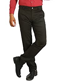 Basilio's SuperFine Cotton Men's Formal: : Semi Casual Trouser - B071YGSZ12