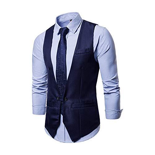 Yaxuan Men Es Vest Gilet Kostüm Homme 2018 Nagelneuen Formalen Business-Hochzeitsanzug Vest Mens Slim Fit Single Breasted Weste Male XXL,3,M