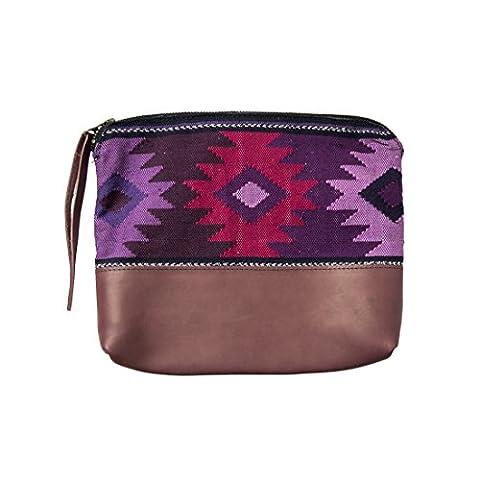 Guatemalan Native Comalapa Clutch Bag Handmade by Hide & Drink :: Violet