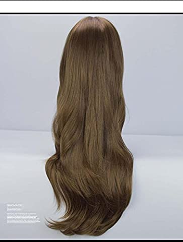 Multi-Color Sexy Long Hair Natürliche Fancy Dress Perücken Cosplay Kostüm Damen Full Perücke Party, Hochwertige Perücken mit Free Perücke Cap und Perücke Kamm , black brown