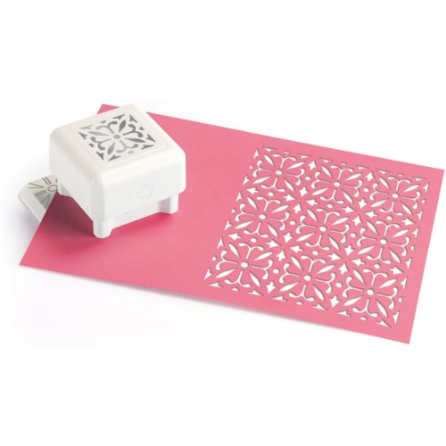 Wilton Brands Inc Martha Stewart Crafts Schablone/Bastelbedarf, zur Dekoration einer ganzen Seite, Herzmuster weiß (Martha Craft Stewart Punch)