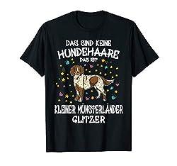 Kleiner Münsterländer Glitzer Hundehalter Geschenk Hunde T-Shirt
