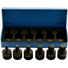 Laser 4939 - Juego de llaves de vaso con punta XZN para destornilladores de impacto (6 piezas)