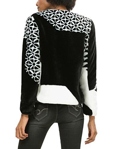 Desigual Damen Jacke Chaq_teresa Mehrfarbig (schwarz/weiß)
