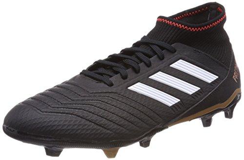adidas Herren Predator 18.3 FG Fußballschuhe, Schwarz (Core Black/FTWR White/solar Red), 46 EU
