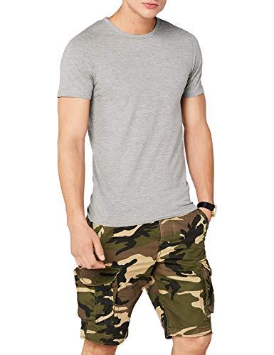 Jack & Jones Jones - Camiseta de manga corta con cuello redondo para hombre, Grau (LIGHT GREY MELANGE JJ LIGHT GREY MELANGE), Medium
