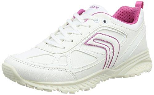 Geox Mädchen J Bernie Girl I Sneaker Weiß (White/fuchsia)
