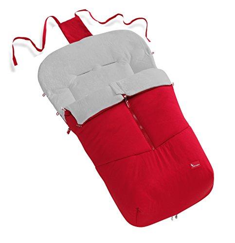 INTERBABY INTERBABY 10022- Saco para silla bogaboo y universal, nylon y terciopelo, color rojo