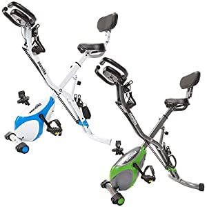 41665d3J%2B5L. SS300  - Skandika X-3000 Multifuntion X-Bike Fitness Bike Hometrainer resistance band system - Hand pulse sensors - Foldable Indoor Fitness - Ergometer - Tablet holder - Foldable Fitness Indoor bike