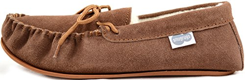 SNUGRUGS Wool Lined Suede-Rubber Sole, Mocassins Homme Marron - Marron clair