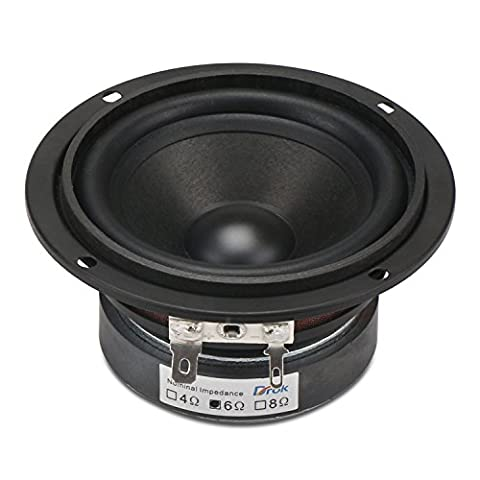 DROK® 3-inch 15W HIFI Full Range Speakers with 90dB High Sensitivity, Circular 6Ω 45mm Hight Loudspeakers with High Pitch, Anti-magnetic Home Woofer Stereo Speakers Suitable for Listening to Classical & String Music