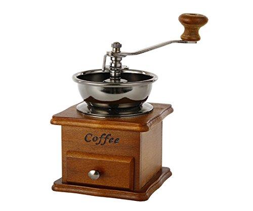 GXSCE manuelle Kaffeemühle, kleine Kaffeemühle, Espresso Coffee Bean Grinder, einstellbare Salz Pfeffermühle Grinds Bohnen Gewürze gebürstet