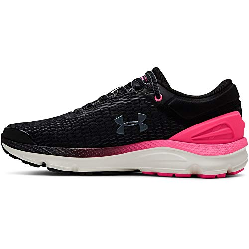 Under Armour Charged Intake 3, Scarpe Running Donna, Nero (Black/Mojo Pink/Pitch Gray 001), 37.5 EU
