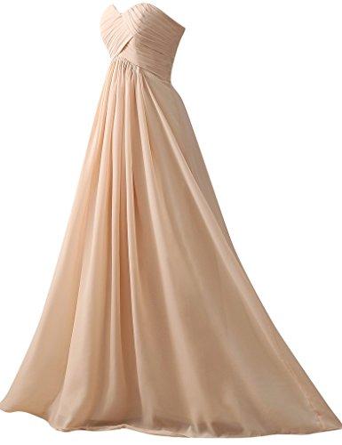 HUINI Frauen ?rmellosen Chiffon Lange Brautjunfer Abschlussball Kleid Schatz Hochzeit Kleider Traube