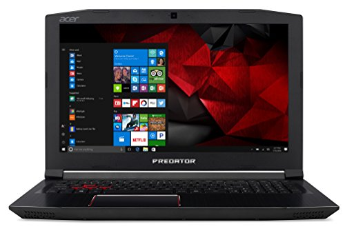 "Predator Helios 300 G3-572-760K Notebook Gaming con Processore Intel Core i7-7700HQ, RAM 16GB DDR4, 256GB SSD e 1T HDD, Display 15.6"" FHD IPS LED LCD, NVIDIA GeForce GTX 1060 6GB, Windows 10 Home"