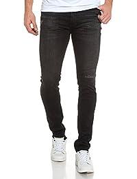 Teddy Smith - Jean noir délavé super skinny fit - couleur: Noir - taille: FR 38 US 31