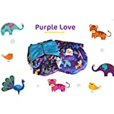 Superbottoms Cloth Diapers Plus UNO Reusable All in One Diaper with 2 Organic Cotton Soakers and Dry Feel - Purple Love