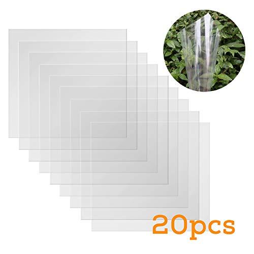 Baisdy Mylar Schablonenblätter, transparent, 30,5 x 30,5 cm, 20 Stück