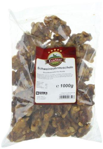 EcoStar Hunde Snack Schweineohrmuscheln 1kg, 1er Pack (1 x 1 kg) - 2