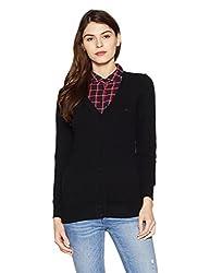 Monte Carlo Womens Wool Cardigan (1170730VN-148-40_Black)
