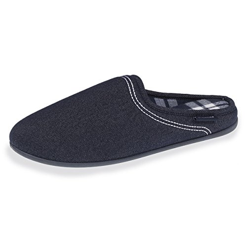 Isotoner Chaussons Mules Homme Effet Denim