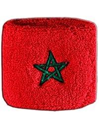 Digni® Poignet éponge avec drapeau Maroc