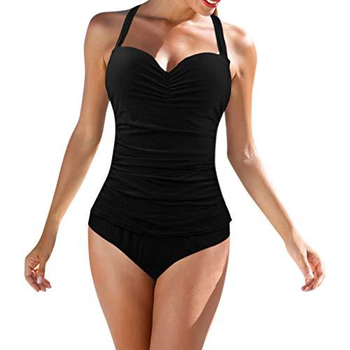 Darringls Costumi da Bagno, Bikini Donna Costume Intero Push Up Costume Donna Taglie Forti Costume da Bagno Sexy Moda Senza Maniche Halter Slim Bandage Bikini