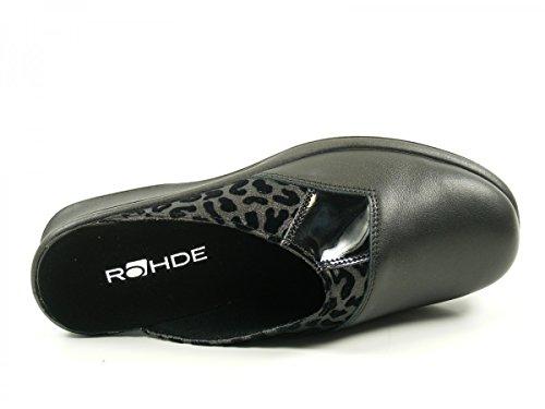 Rohde 2504 Farun Pantofole Donna Schwarz